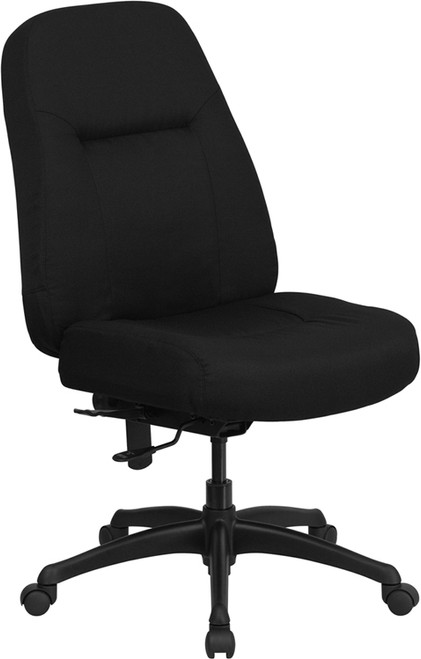 Big & Tall 400 lb. Capacity High Back Big & Tall Black Fabric Office Chair with Extra WIDE Seat , #FF-0305-14