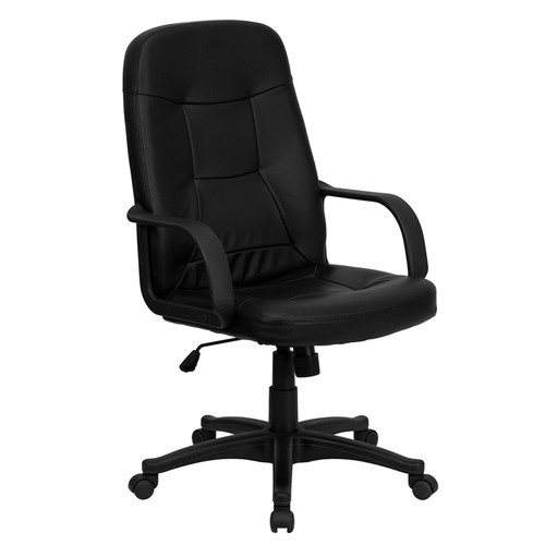 High Back Black Glove Vinyl Executive Office Chair , #FF-0265-14