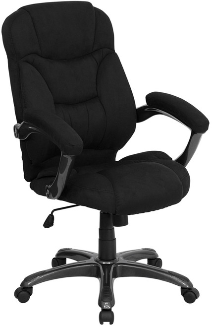 High Back Black Microfiber Upholstered Contemporary Office Chair , #FF-0275-14