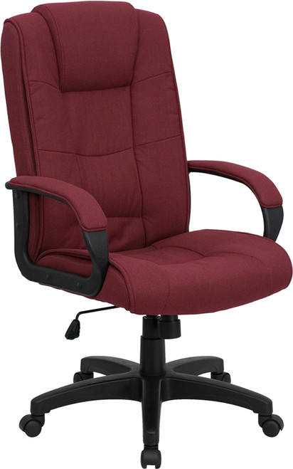 High Back Burgundy Fabric Executive Office Chair , #FF-0281-14