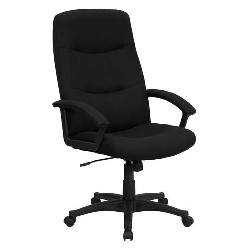 High Back Black Fabric Executive Swivel Office Chair , #FF-0282-14