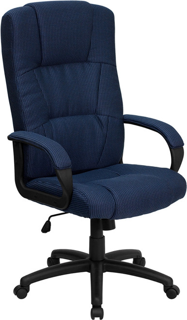 High Back Navy Fabric Executive Office Chair , #FF-0286-14