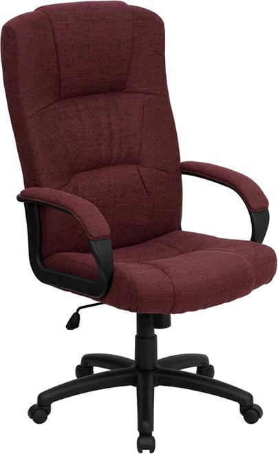 High Back Burgundy Fabric Executive Office Chair , #FF-0287-14