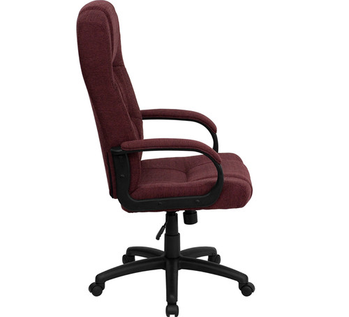High Back Burgundy Fabric Executive Office Chair , #FF-0287-14