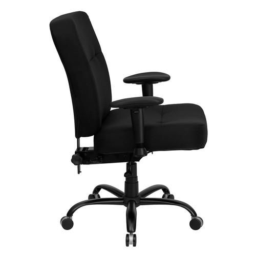 Big & Tall 400 lb. Capacity Big & Tall Black Fabric Office Chair with Arms and Extra WIDE Seat , #FF-0295-14