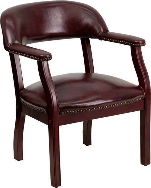 Oxblood Vinyl Luxurious Conference Chair , #FF-0469-14