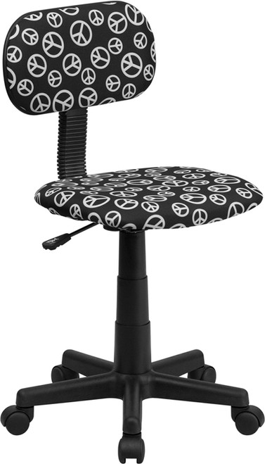 Peace Sign Printed Computer Chair , #FF-0379-14