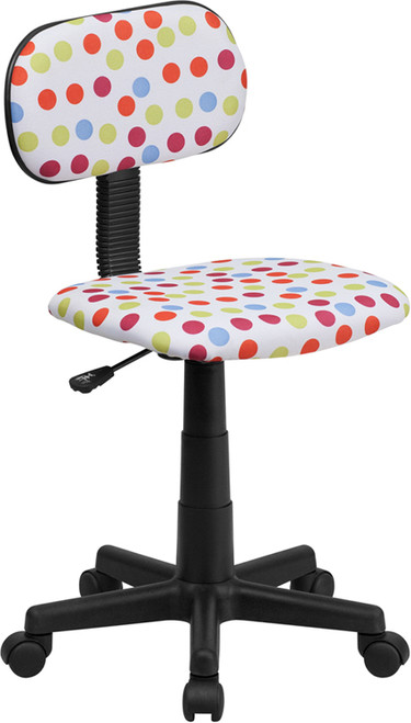 Multi-Colored Dot Printed Computer Chair , #FF-0389-14