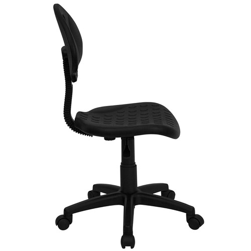 ''Tuff Butt'' Soft Black Polypropylene Utility Task Chair , #FF-0333-14