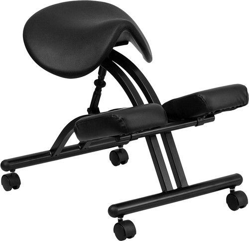 Ergonomic Kneeling Chair with Black Saddle Seat , #FF-0430-14