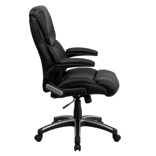 High Back Black Leather Executive Office Chair , #FF-0157-14