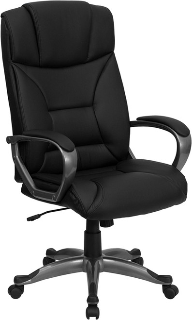 High Back Black Leather Executive Office Chair , #FF-0214-14