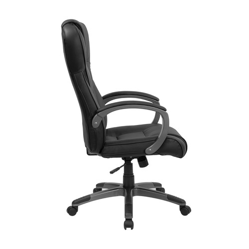 High Back Black Leather Executive Office Chair , #FF-0215-14