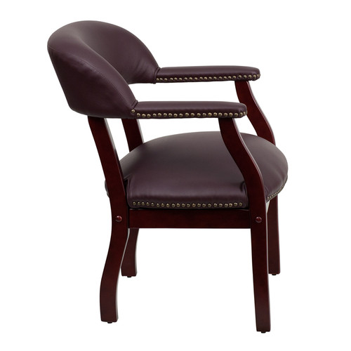 Burgundy Leather Conference Chair , #FF-0456-14