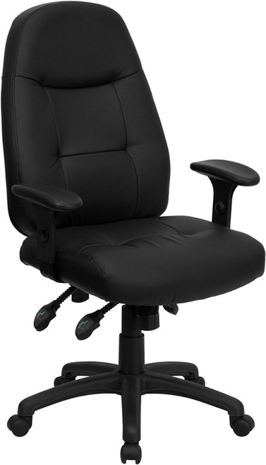 High Back Black Leather Executive Office Chair , #FF-0331-14