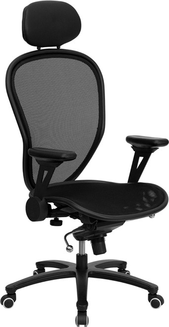 High Back Professional Super Mesh Chair Featuring Solid Metal Construction with Black Accents , #FF-0032-14
