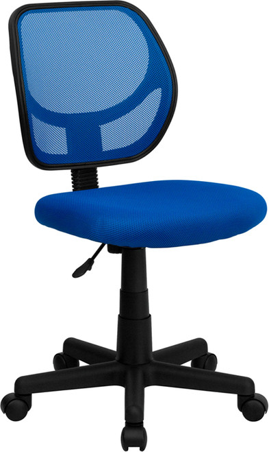 Mid-Back Blue Mesh Task Chair and Computer Chair , #FF-0041-14