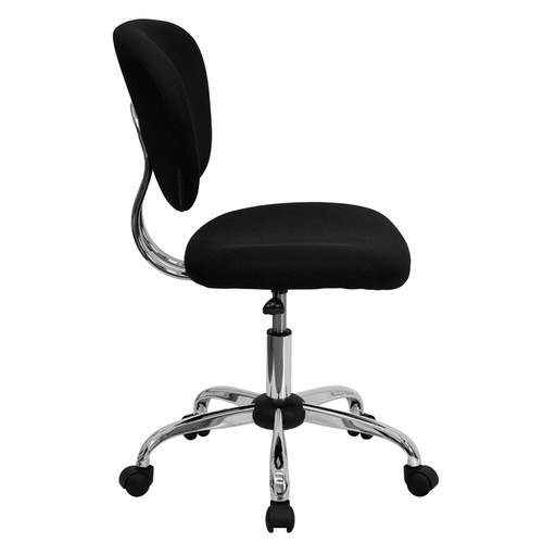 Mid-Back Black Mesh Task Chair with Chrome Base , #FF-0094-14
