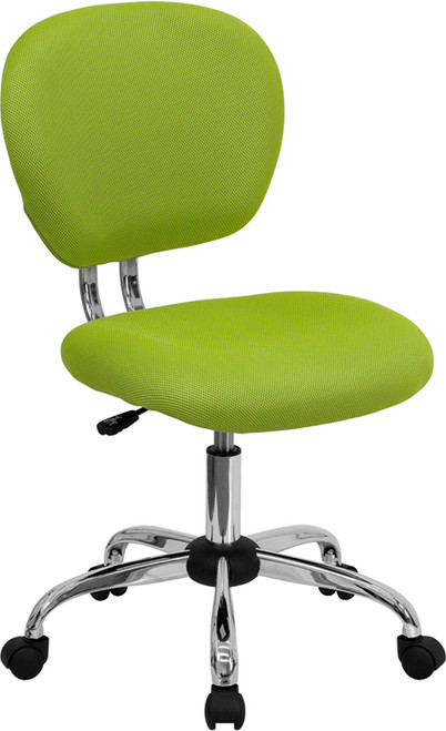 Mid-Back Apple Green Mesh Task Chair with Chrome Base , #FF-0098-14