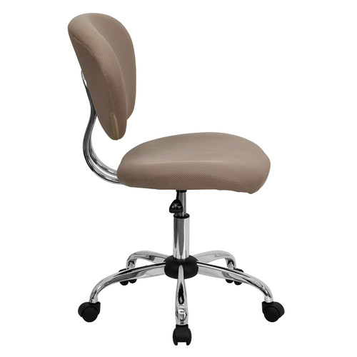 Mid-Back Coffee Brown Mesh Task Chair with Chrome Base , #FF-0150-14