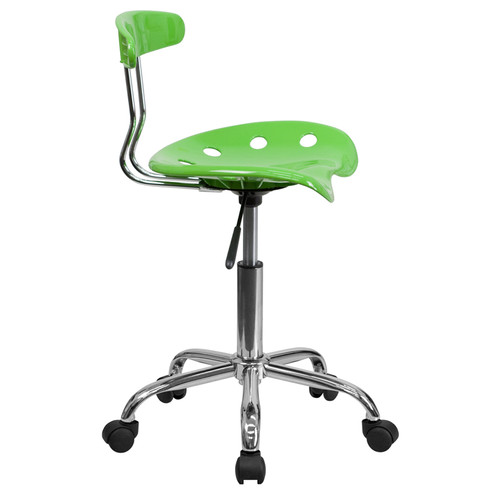 Vibrant Apple Green and Chrome Computer Task Chair with Tractor Seat , #FF-0407-14