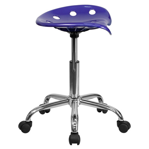 Vibrant Deep Blue Tractor Seat and Chrome Stool , #FF-0489-14
