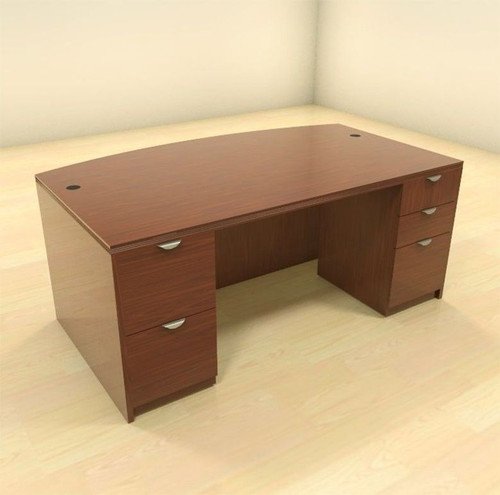 3pc Fan Front Modern Contemporary Executive Office Desk, #CH-JAD-D7