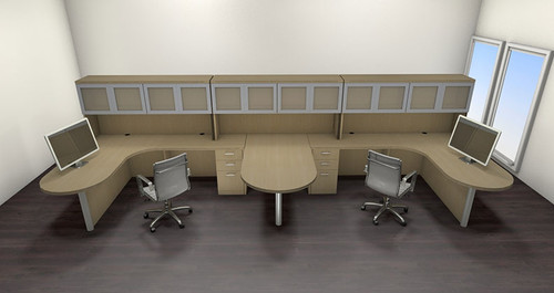 Two Persons Modern Executive Office Workstation Desk Set, #CH-AMB-S60