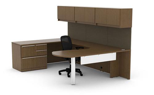10pc U Shaped Modern Executive Office Desk Set, #CH-VER-U35