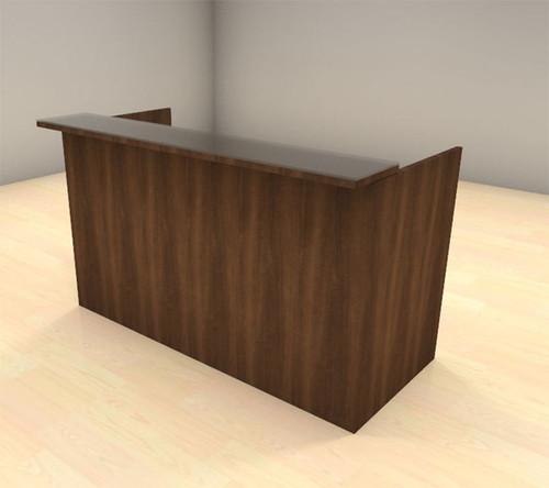 2pc Modern Glass Counter Reception Desk Set, #CH-AMB-R1