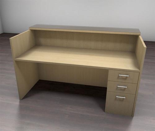 2pc Modern Glass Counter Reception Desk Set, #CH-AMB-R2