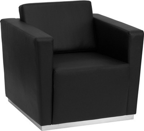 1pc Modern Leather Office Reception Chair, FF-0454-12