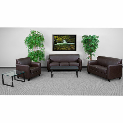 3pc Modern Leather Office Reception Sofa Set, FF-0554-13-S1