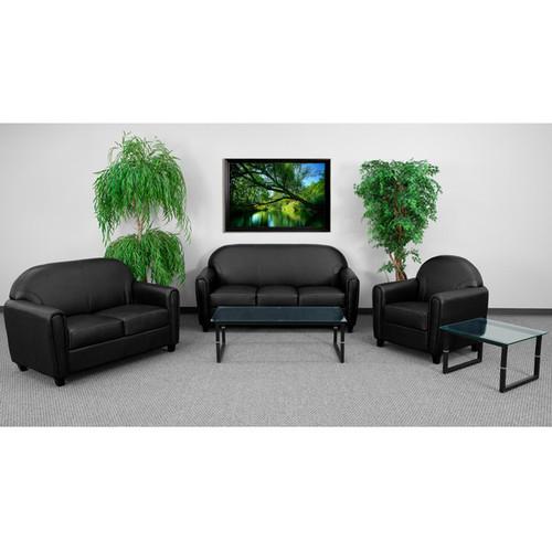3pc Modern Leather Office Reception Sofa Set, FF-0557-13-S1