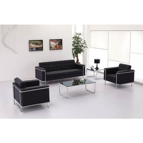 3pc Modern Leather Office Reception Sofa Set, FF-0453-12-S1