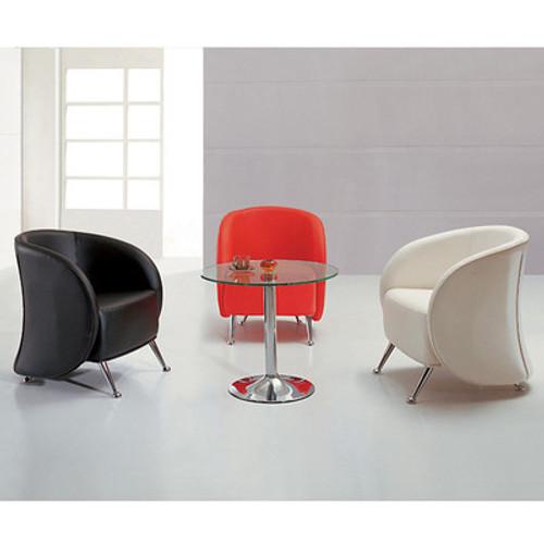 3pc Modern Leather Office Reception Sofa Set, FF-0478-12-S1