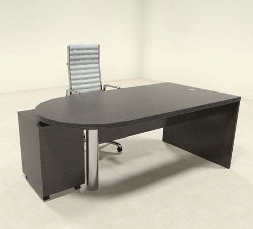 2pc Modern Contemporary Executive Office Desk Set, #RO-ABD-D3
