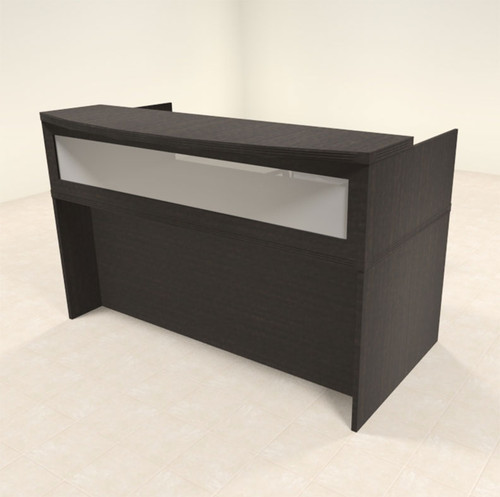2pc Modern Contemporary Glass Reception Desk Set, #RO-ABD-R3