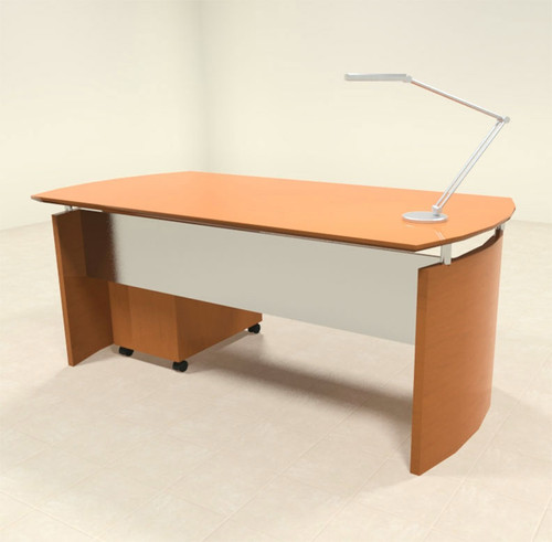2pc Modern Contemporary Executive Office Desk Set, #RO-NAP-D1