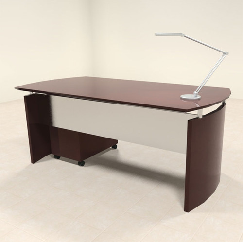 2pc Modern Contemporary Executive Office Desk Set, #RO-NAP-D3