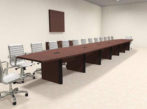 Modern Boat Shaped 28' Feet Conference Table, #OF-CON-CP47