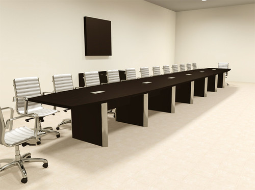 Modern Boat Shaped 28' Feet Conference Table, #OF-CON-CP50