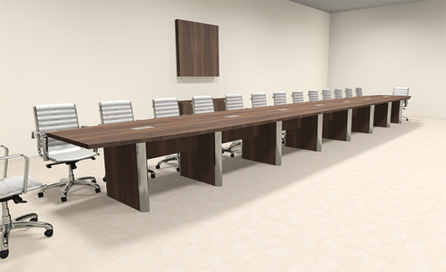 Modern Boat Shaped 30' Feet Conference Table, #OF-CON-CP54