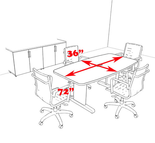 Modern Boat Shaped 6' Feet Conference Table, #MT-CSD-C9
