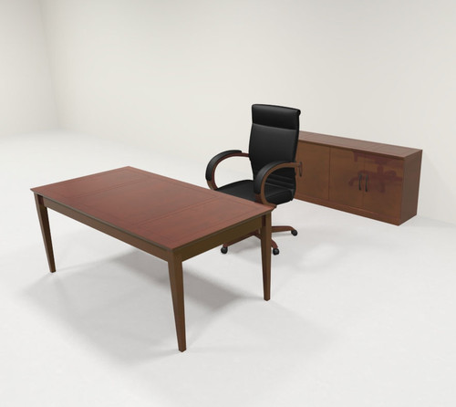 2pc Traditional Rectangular Modern Executive Office Desk Set, #RO-SOR-D11