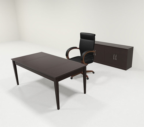 2pc Traditional Rectangular Modern Executive Office Desk Set, #RO-SOR-D12