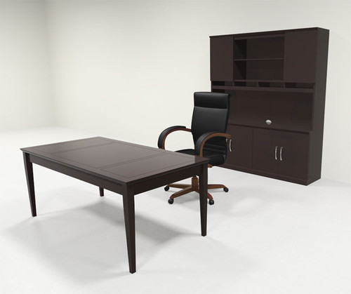 3pc Traditional Rectangular Modern Executive Office Desk Set, #RO-SOR-D14