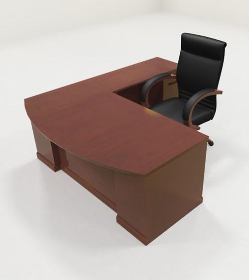 4pc Traditional Modern L Shaped Executive Office Desk Set, #RO-SOR-L1