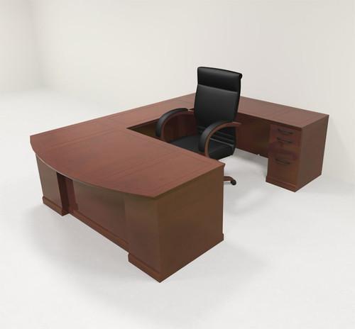 5pc Traditional Modern U Shaped Executive Office Desk Set, #RO-SOR-U1