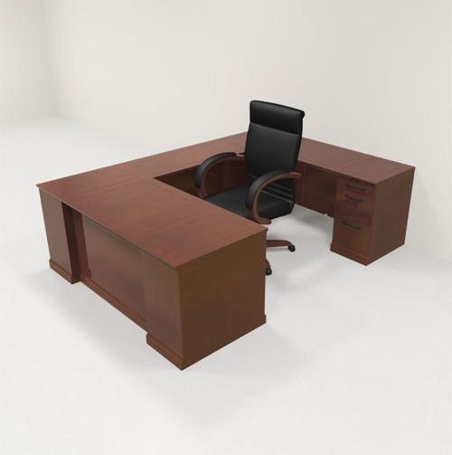 5pc Traditional Modern U Shaped Executive Office Desk Set, #RO-SOR-U3